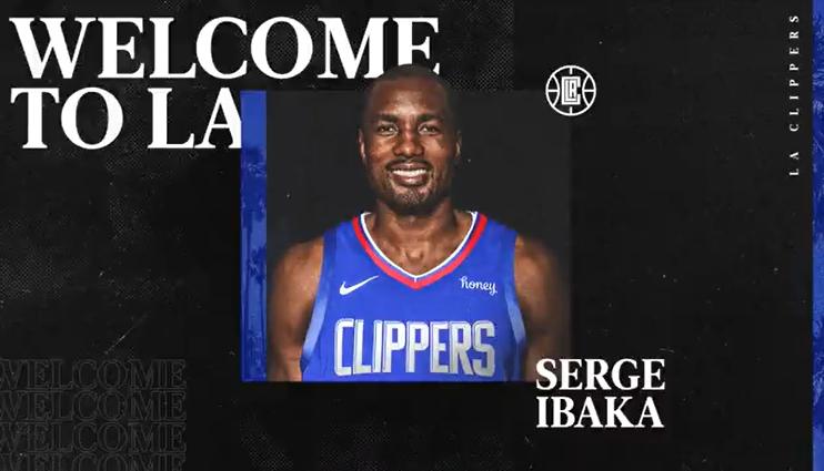 LA Clippers anuncia que Serge Ibaka es parte de su franquicia
