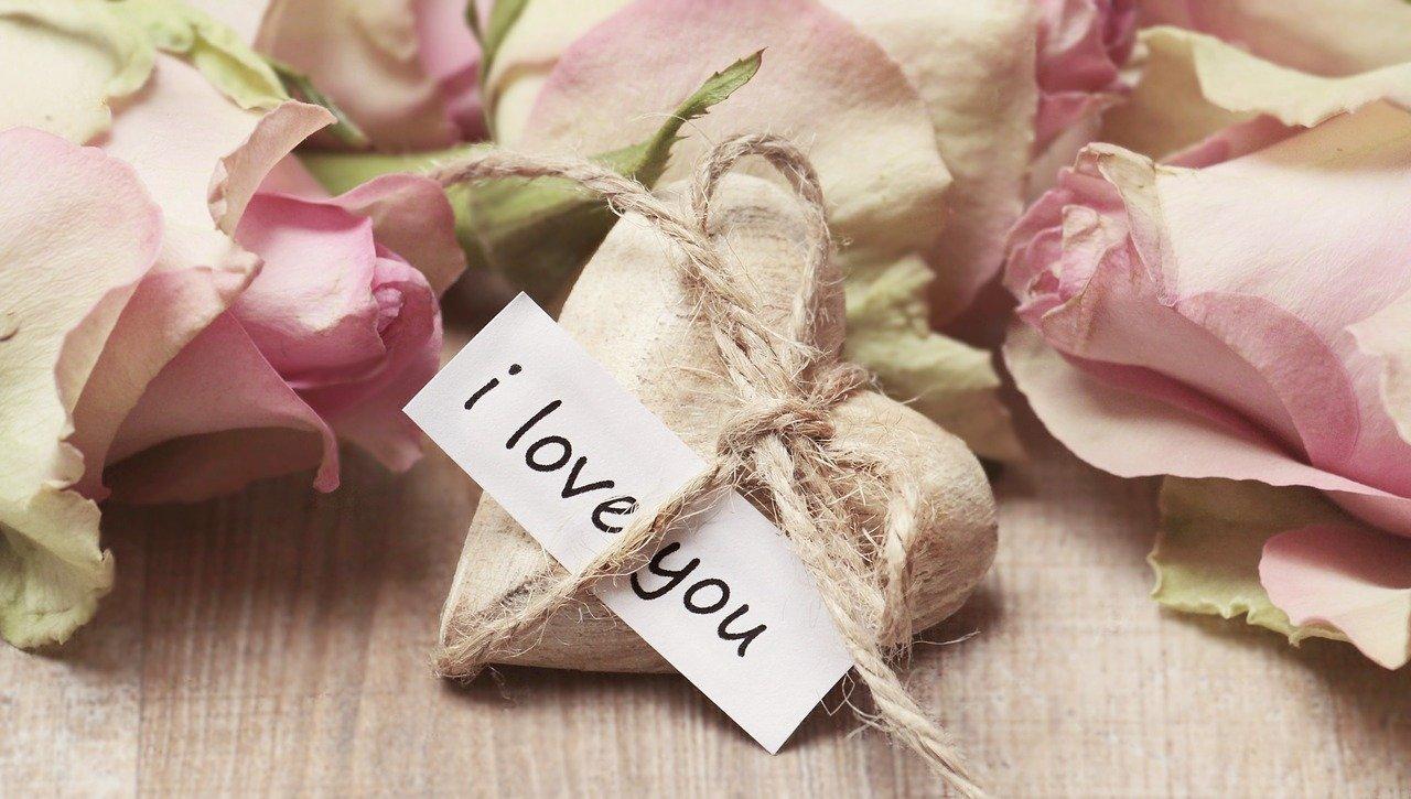 rosa corazon amor