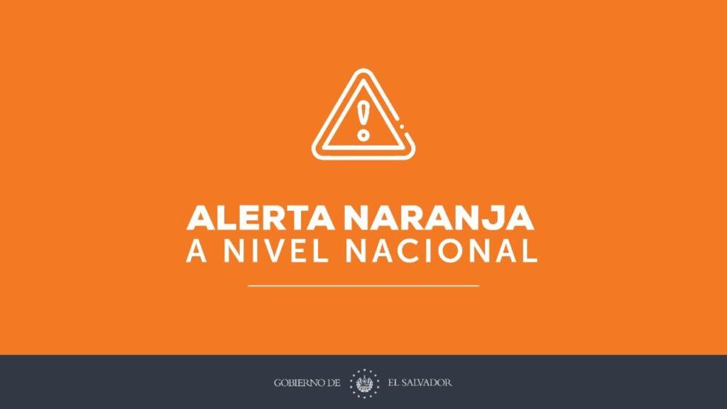 Decretan alerta naranja en el país