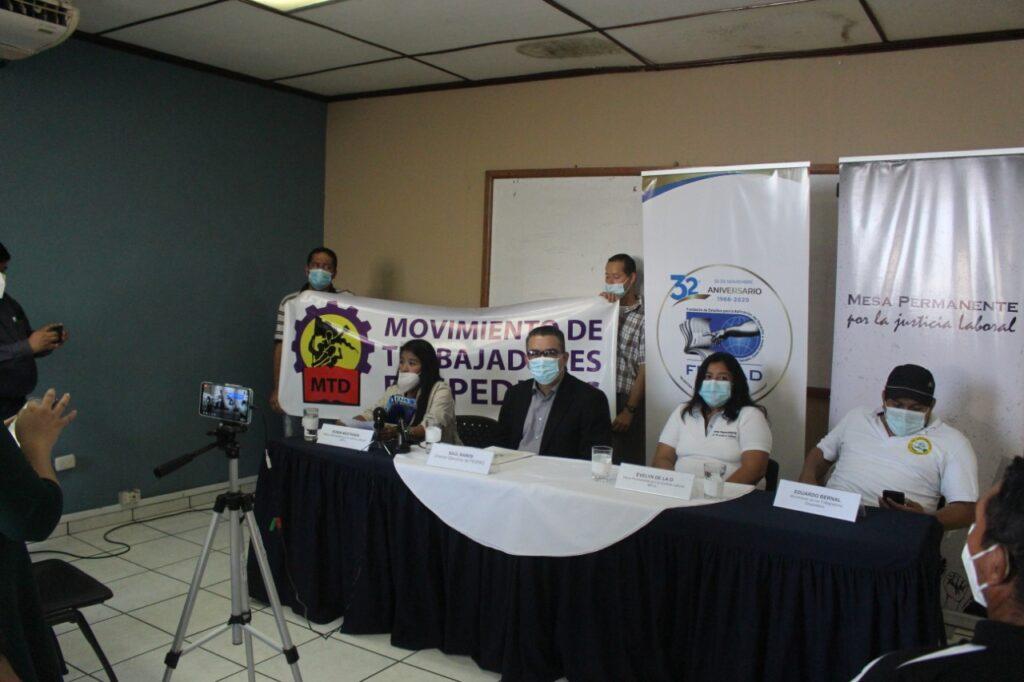 Trabajadores despedidos de Casa Presidencial demandan a la Corte Suprema de Justicia por procesos Judiciales