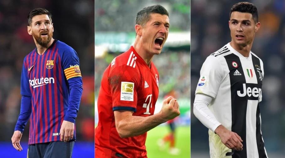 Lewandowski logra victoria clara sobre Cristiano y Messi
