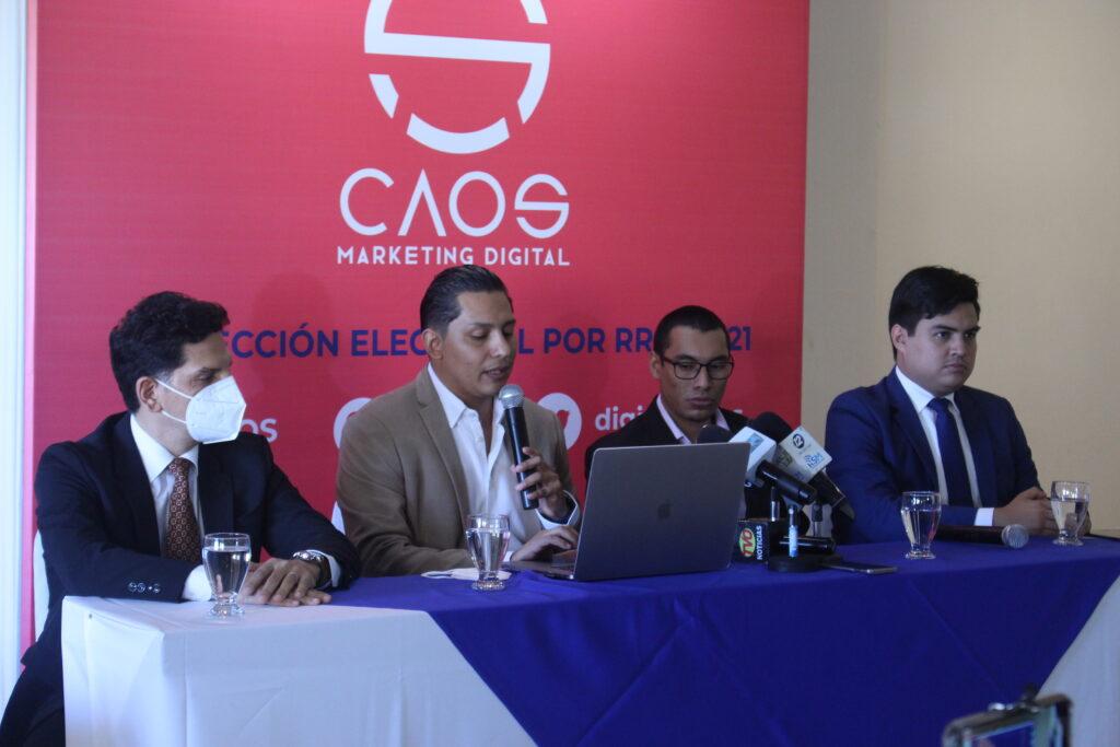 CAOS presenta estudio de proyecciones electorales por redes sociales 2021