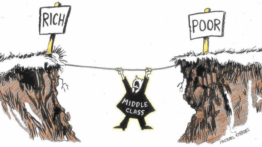 La golpeada clase media