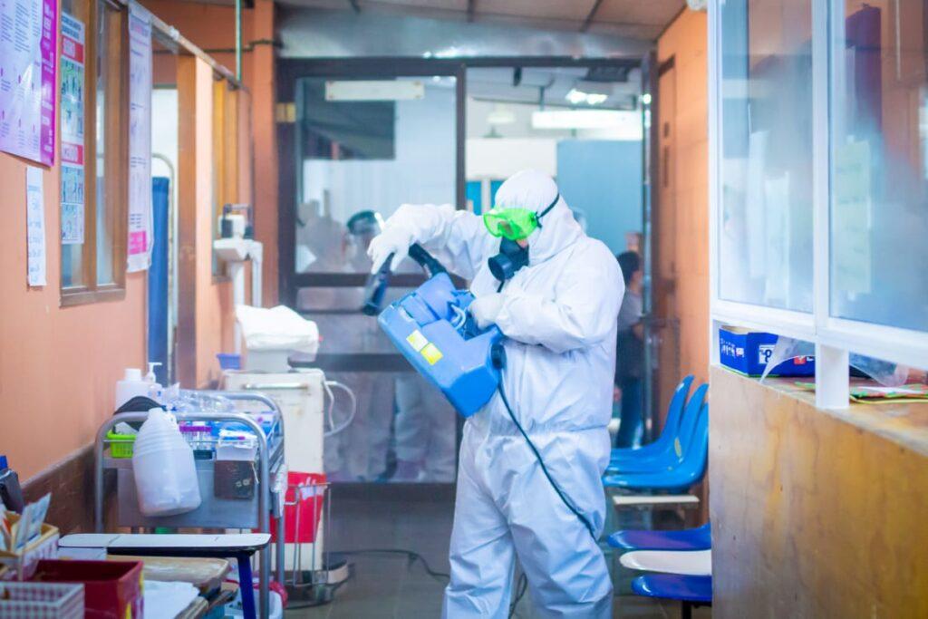 Ministerio de Salud realiza jornadas de desinfección