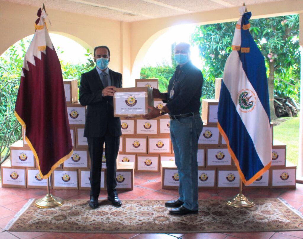 Embajada de Qatar en El Salvador realiza donativo a comunidades afectadas por la pandemia y por las tormentas