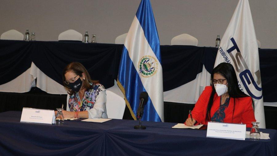 TSE realiza convenio interinstitucional con cancillería