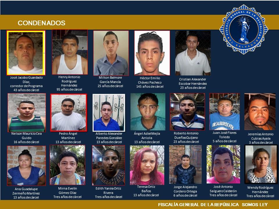 Condena de más de 100 años para 37 terroristas de Santa Ana
