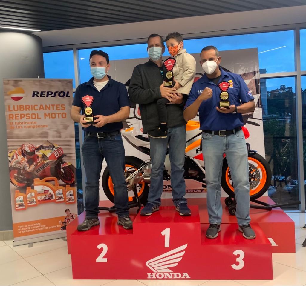 Premian a los ganadores de la primera etapa de la Copa Honda 2021
