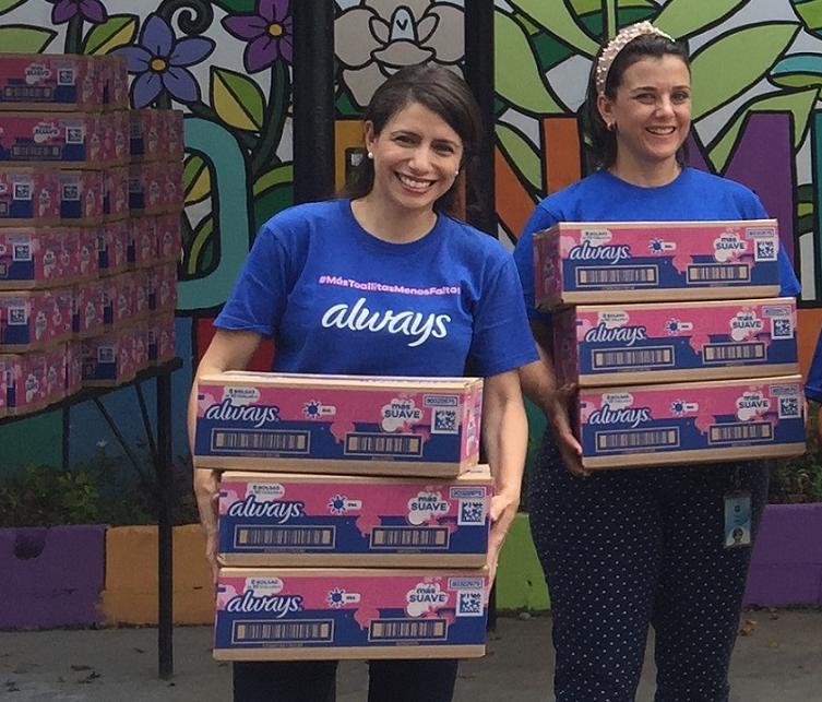 La campaña #ChicaAyudaChica de Always donará 17 mil toallas sanitarias a niñas de escasos recursos